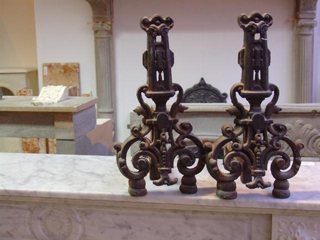 19th century Louis XV andirons
