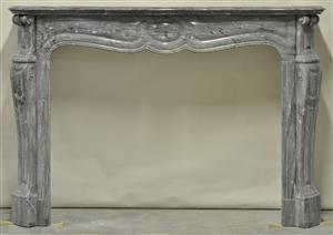1074 Grey Marble Pompadour Galbe Fireplace