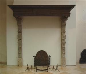(490) 17th century Dutch fireplace/mantlepiece